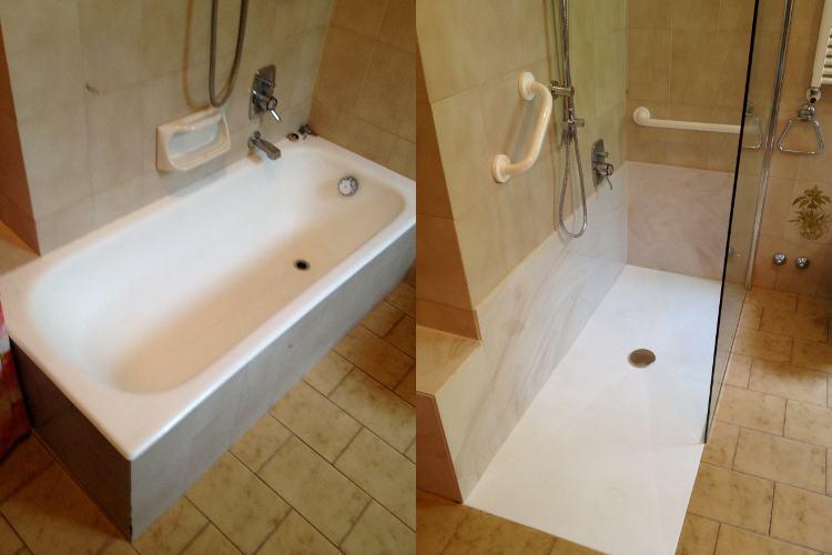 Piatto Doccia Filopavimento - da vasca a doccia con Fiordalisi